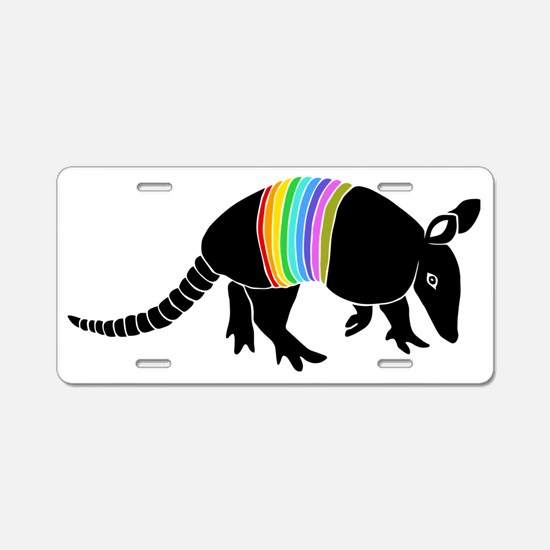 armadillo gürteltier sloth  Aluminum License Plate