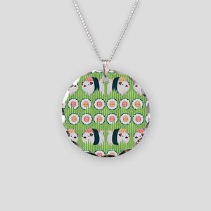 Nigiri-Pug Necklace Circle Charm