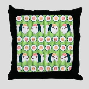 Nigiri-Pug Throw Pillow