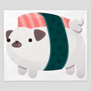 Nigiri-Pug King Duvet