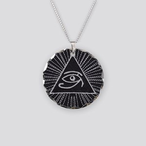 Eye of Horus Patch Necklace Circle Charm