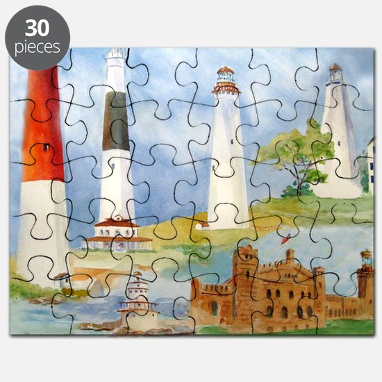 New Jersey Light houses Puzzle