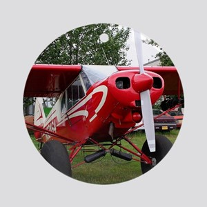 Red and white aircraft, Alaska Round Ornament