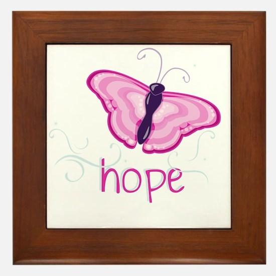 Hope Floats in Pink Framed Tile