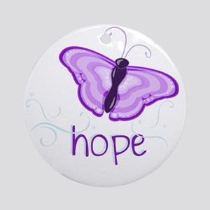 Hope Floats in Purple Round Ornament