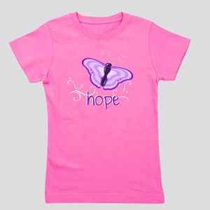 Hope Floats in Purple Girl's Tee