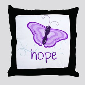 Hope Floats in Purple Throw Pillow