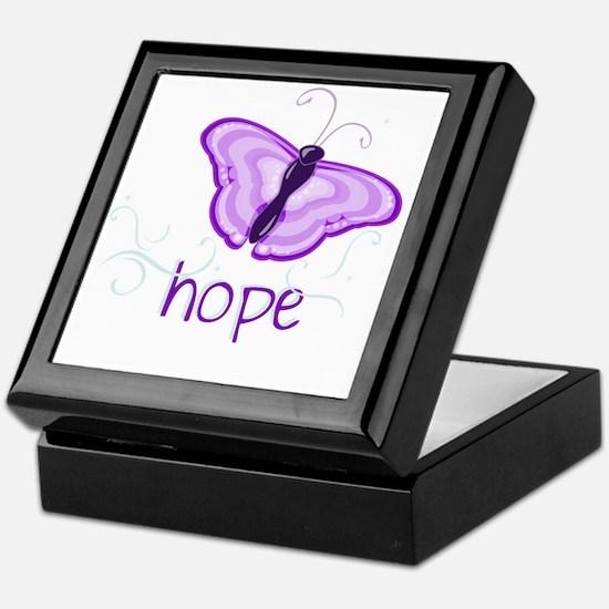 Hope Floats in Purple Keepsake Box