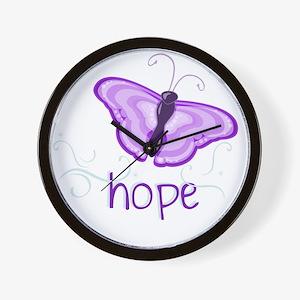 Hope Floats in Purple Wall Clock