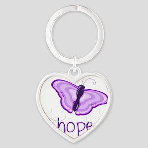 Hope Floats in Purple Heart Keychain