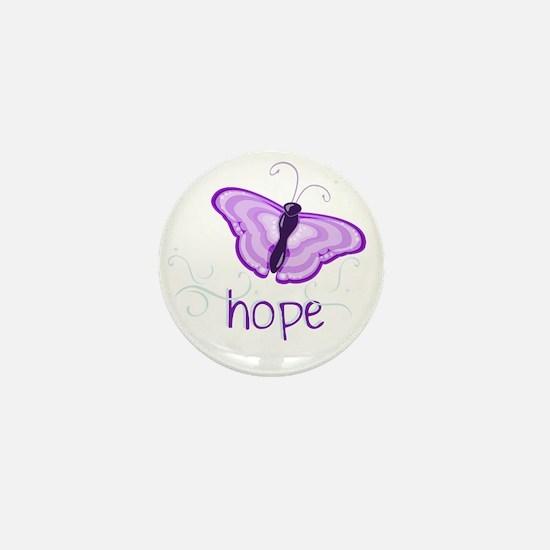 Hope Floats in Purple Mini Button