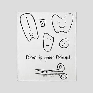 Foam Is Your Friend Throw Blanket