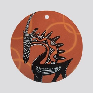 Ciwara Malian Antelope Round Ornament