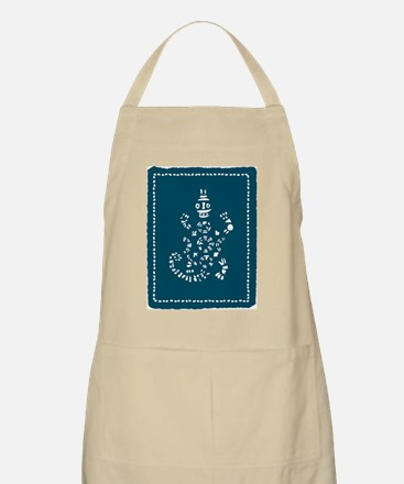 African Tribal Turtle Teal Apron
