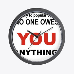 CONTRARY TO POPULAR OPINION Wall Clock