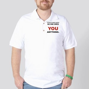 CONTRARY TO POPULAR OPINION Golf Shirt