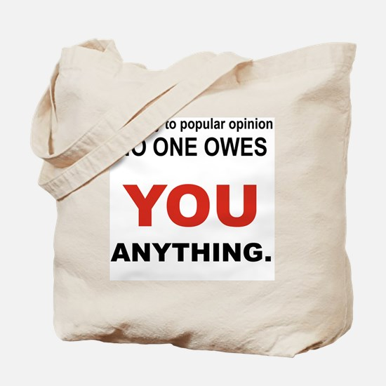 CONTRARY TO POPULAR OPINION Tote Bag
