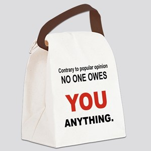 CONTRARY TO POPULAR OPINION Canvas Lunch Bag