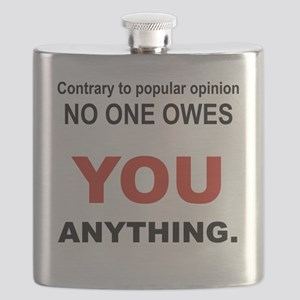 CONTRARY TO POPULAR OPINION Flask