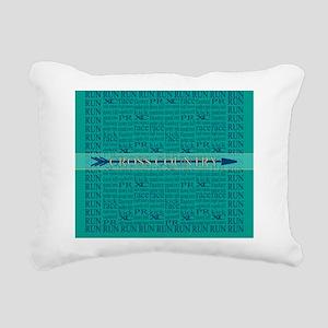 Cross Country Run Collag Rectangular Canvas Pillow