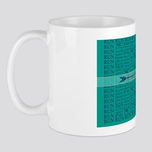 Cross Country Running Collage Mug