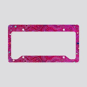Paisley Jewels License Plate Holder