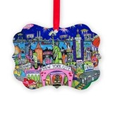 New york city Picture Frame Ornaments