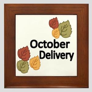 OCTOBER DELIVERY Framed Tile