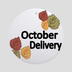 OCTOBER DELIVERY Round Ornament