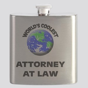 World's Coolest Attorney At Law Flask