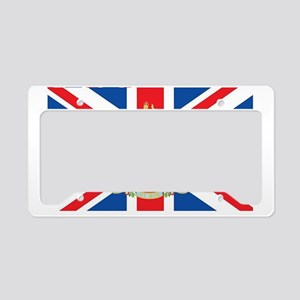 British Flag with Royal Crest License Plate Holder