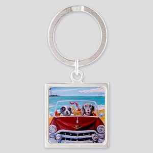 Lexi  Sophie Square Keychain