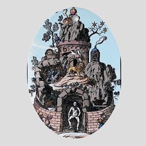 Christian Rosencruetz Oval Ornament