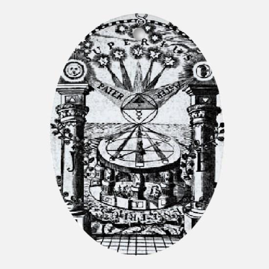 Jachin-Boaz Pillars Oval Ornament