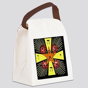 Rosy Cross Canvas Lunch Bag