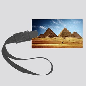 Pyramids at Khufu Large Luggage Tag