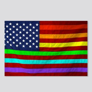 Gay Rights Rainbow Patrio Postcards (Package of 8)
