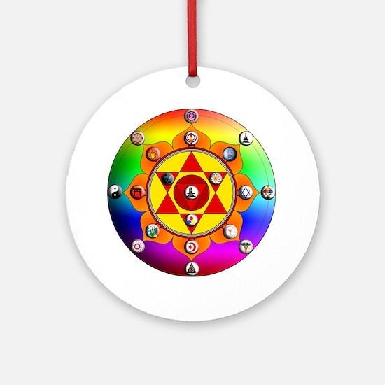 Yoga Mandala Round Ornament