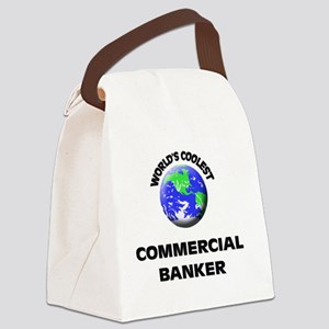 World's Coolest Commercial Banker Canvas Lunch Bag