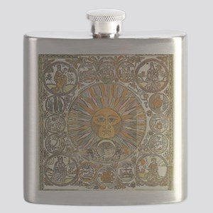 Sun with Faces Flask