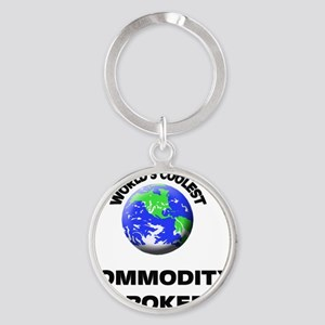 World's Coolest Commodity Broker Round Keychain