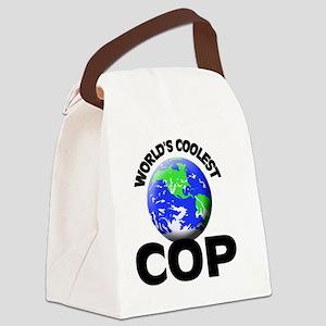 World's Coolest Cop Canvas Lunch Bag