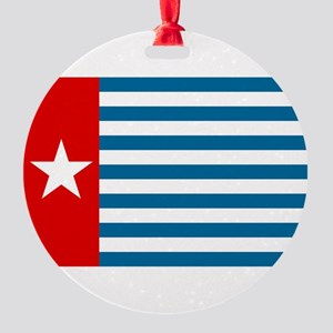 Pree Papua Flag Round Ornament
