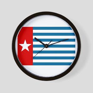 Pree Papua Flag Wall Clock