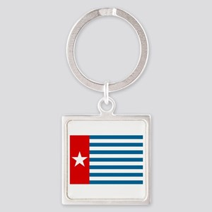 Pree Papua Flag Square Keychain