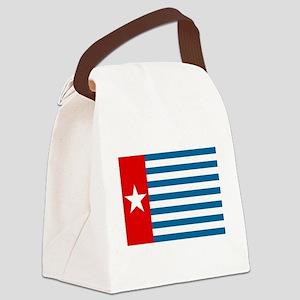 Pree Papua Flag Canvas Lunch Bag