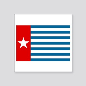 "Pree Papua Flag Square Sticker 3"" x 3"""