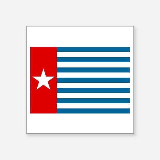 "Pree Papua Flag Square Sticker 3"" x 3"""