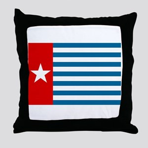 Pree Papua Flag Throw Pillow