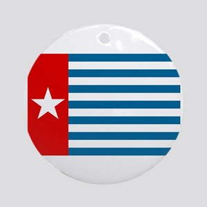 Pree Papua Flag Round Ornament